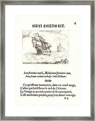 Jacques Callot French, 1592 - 1635. Vaisseau Navigant Framed Print by Litz Collection