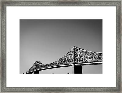 Jacques Cartier Bridge Montreal Metro 1 Framed Print by Eric Soucy
