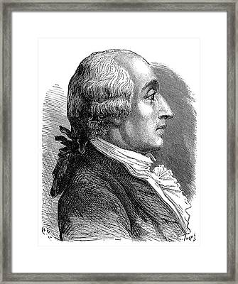 Jacques Charles Framed Print by Science Photo Library