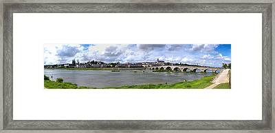 Jacques Gabriel Bridge Over The Loire Framed Print by Panoramic Images