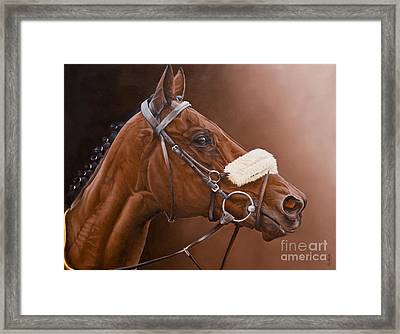 Jadanli- After The Race. Framed Print by Pauline Sharp