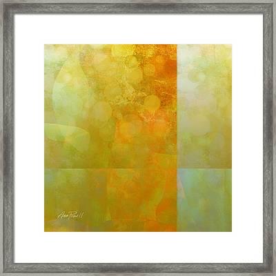 Jade And Carnelian Abstract Art  Framed Print by Ann Powell