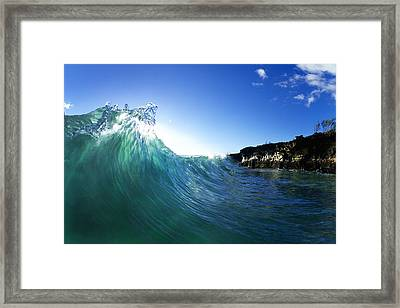 Jade Crystal Framed Print by Sean Davey