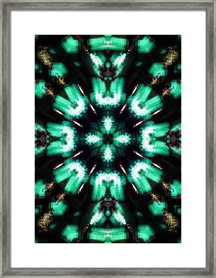 Jade Reflections - 4 Framed Print by Shawna Rowe