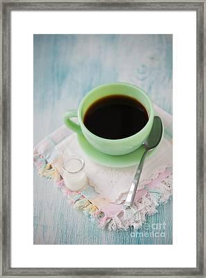 Jadite Coffee Cup Framed Print by Kay Pickens