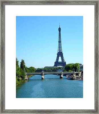 Framed Print featuring the photograph J'adore Paris by Kay Gilley