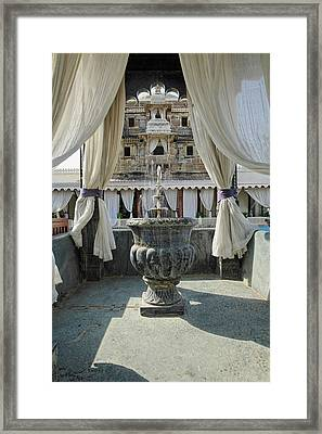 Jag Mindar Palace, Lake Pichola Framed Print by Adam Jones