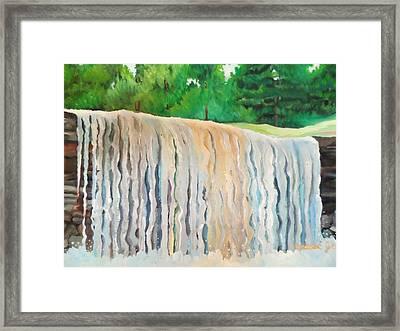 Jagala Waterfalls  Framed Print