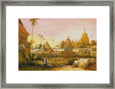 Jaganath Puri With Ratha Yatra In Progress Framed Print by Dominique Amendola
