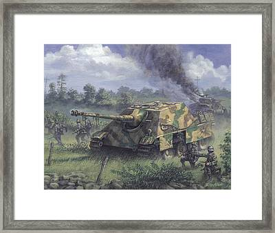 Jagdpanther In Normandy 1944 Framed Print by Philip Arena