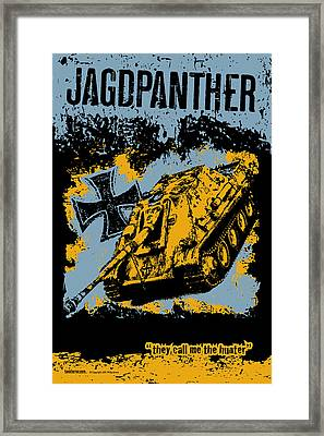 Jagdpanther Late Production Framed Print by Philip Arena
