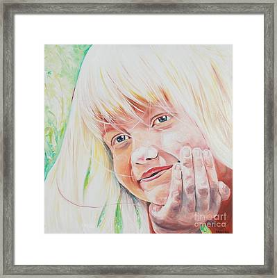 Jager- Girl Resting Framed Print by PainterArtist FIN