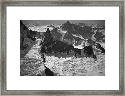 Jagged Magnificence Framed Print