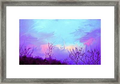 Jagged Sky Framed Print by Crystal Harman
