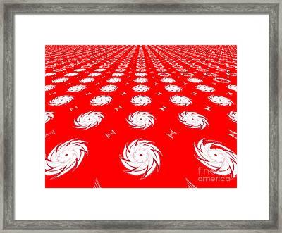 Jagged Swirls Framed Print