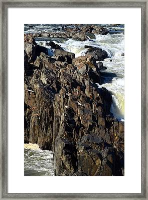 Jagged Waters Framed Print