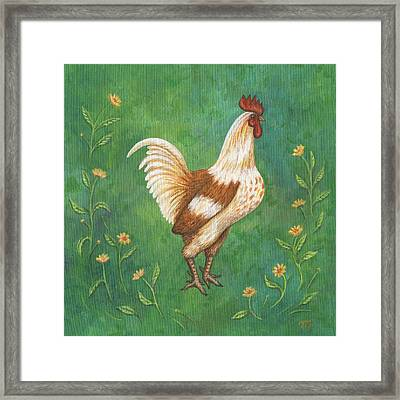 Jagger The Rooster Framed Print