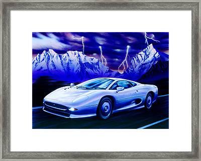 Jaguar 220 Framed Print by Garry Walton