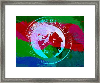 Jaguar Badge Framed Print by Naxart Studio