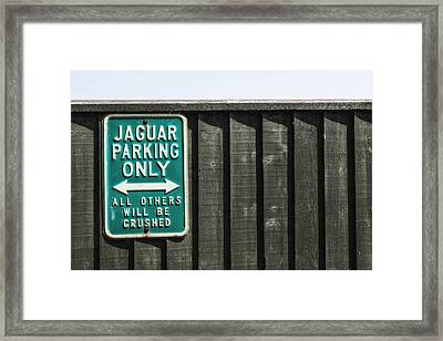 Jaguar Car Park Framed Print