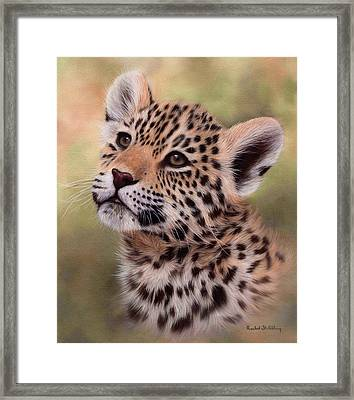Jaguar Cub Painting Framed Print