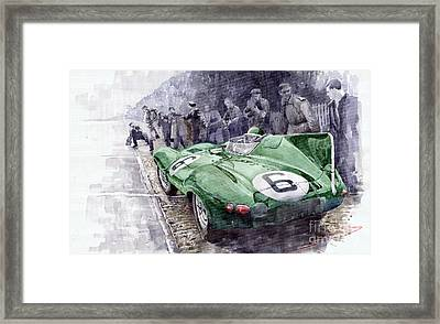 Jaguar D-type  1955 Le Mans  Framed Print