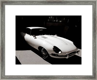 Framed Print featuring the photograph Jaguar E-type Coupe by Bob Wall