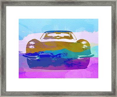 Jaguar E Type Front Framed Print by Naxart Studio