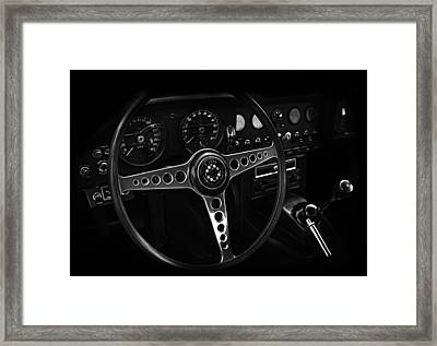 Jaguar E Type Interior Framed Print by Mark Rogan