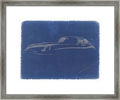 Jaguar E Type Framed Print by Naxart Studio