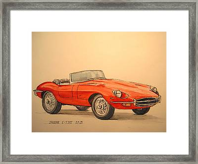 Jaguar E Type Framed Print