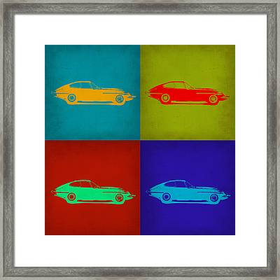 Jaguar E Type Pop Art 1 Framed Print by Naxart Studio