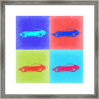Jaguar E Type Pop Art 2 Framed Print by Naxart Studio