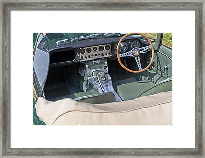 Jaguar E-type Series 1 Framed Print by Maj Seda