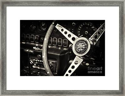Jaguar E Type Steering Wheel   Framed Print by Tim Gainey