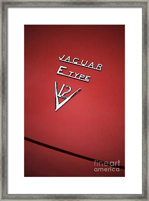 Jaguar E Type V12 Abstract Framed Print by Tim Gainey