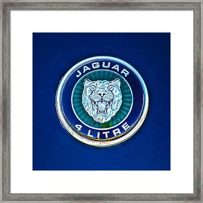 Jaguar Emblem -0792c Framed Print