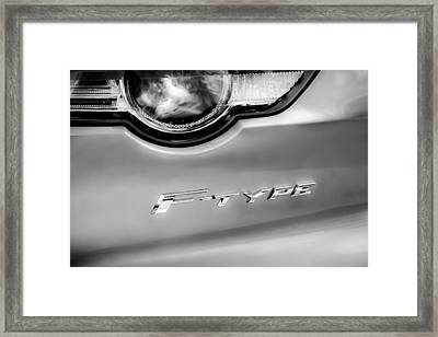 Jaguar F-type Taillight Emblem -0149bw Framed Print