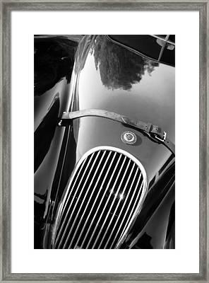 Jaguar Hood Emblem - Grille Framed Print