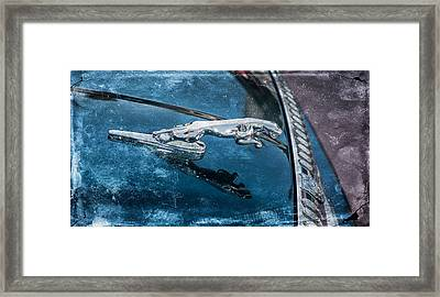 Jaguar Hood Ornament Framed Print