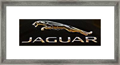 Jaguar Leaper F-type Spoiler Framed Print