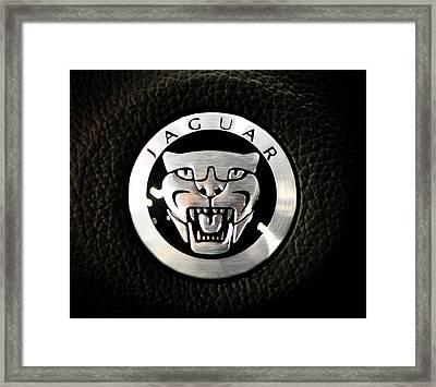 Jaguar Logo Framed Print by Ronda Broatch