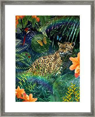 Jaguar Meadow Framed Print by Alixandra Mullins