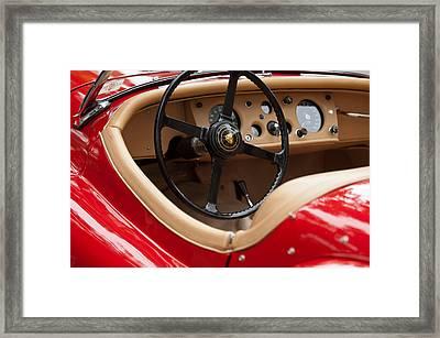 Jaguar Steering Wheel Framed Print