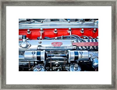 Jaguar Type C Engine Framed Print by Jill Reger