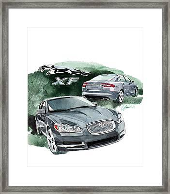Jaguar Xf Framed Print