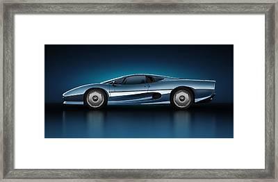 Jaguar Xj220 - Azure Framed Print by Marc Orphanos