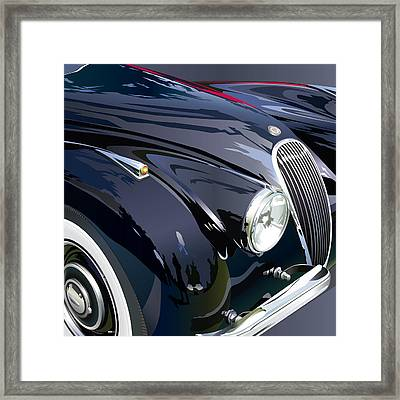 Jaguar Xk 120se R Detail Framed Print