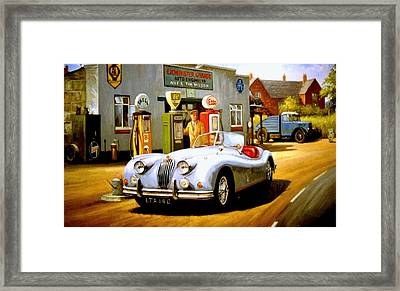 Jaguar Xk 140 Framed Print by Mike  Jeffries