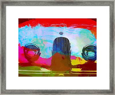 Jaguar Xk Front Framed Print by Naxart Studio